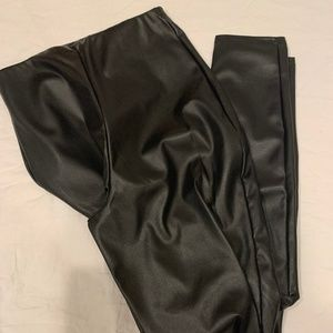 Missguided basic faux leather leggings